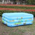 兒童充氣游泳池家用戶外寶寶嬰幼兒家庭水池方型加厚海洋球池 快速出貨