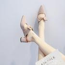 尖頭鞋 2021新款夏季中跟粗跟春款法式尖頭小高跟單鞋晚晚風溫柔春秋女鞋【618 購物】