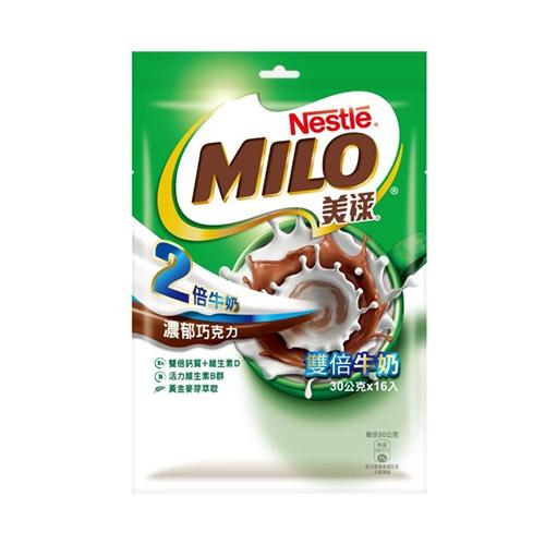 雀巢美祿-雙倍牛奶三合一袋裝30g x16入【愛買】