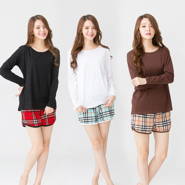 【Wonderland】俏皮甜姐兒運動休閒衣褲3套組