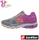 LOTTO 女款慢跑鞋 氣墊鞋 無車縫膠印 避震 漸層風格 透氣運動鞋  L8629#灰紫◆OSOME奧森童鞋/小朋友