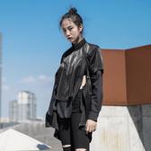 暗黑朋克風個性造型搭配品中長版短袖T恤/設計家