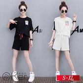 時尚貼標印花短袖T恤+短褲 S-XL O-Ker歐珂兒 148090-C