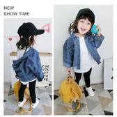女童牛仔外套裝韓版短款不規則兒童寶寶外套秋上衣潮