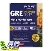 [106美國直購] 2017美國暢銷書 GRE Premier 2017 with 6 Practice Tests:Online+Book+Videos+Mobile(Kaplan Test Prep)