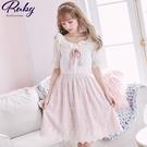 洋裝 露比設計‧一字領荷葉蕾絲短袖洋裝-Ruby s 露比午茶