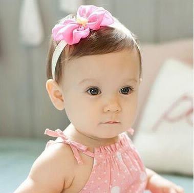 預購 - 四色新款超萌蕾絲寶寶髮帶百日週歲拍照公主頭飾