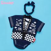 日本限定 三麗鷗 汽車宇宙  日式和服 甚平 浴衣 嬰兒  包屁衣 蝴蝶結頭帶 套組