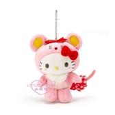 小花花日本精品Hello Kitty 2020鼠年 變裝 站姿造型 絨毛娃娃布偶吊飾 包包掛飾 50144501