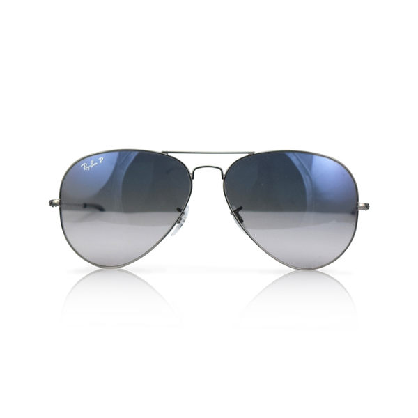 RAY BON 偏光太陽眼鏡(銀+漸層藍灰) RB3025《小婷子》