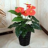 綠植假樹滴水觀音紅掌仿真植物盆栽客廳辦公室內落地裝飾塑料花藝 新品全館85折 YTL