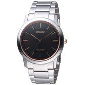 星辰CITIZENGENT'S簡約時尚鈦金屬腕錶     AW2024-81E