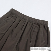 雙11特價 夏裝中老年女裝全棉七分褲女褲大碼媽媽裝鬆緊腰純棉寬鬆休閒中褲