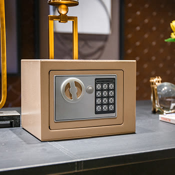 保險柜家用辦公小型17E全鋼可入墻床頭迷你保險箱電子密碼igo『韓女王』