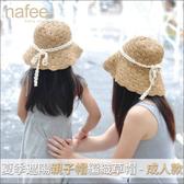夏季遮陽親子帽編織草帽-成人款沙灘玩具