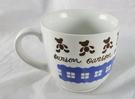 【震撼精品百貨】日本泰迪熊 ~ 藍格紋 馬克杯 【共1款】