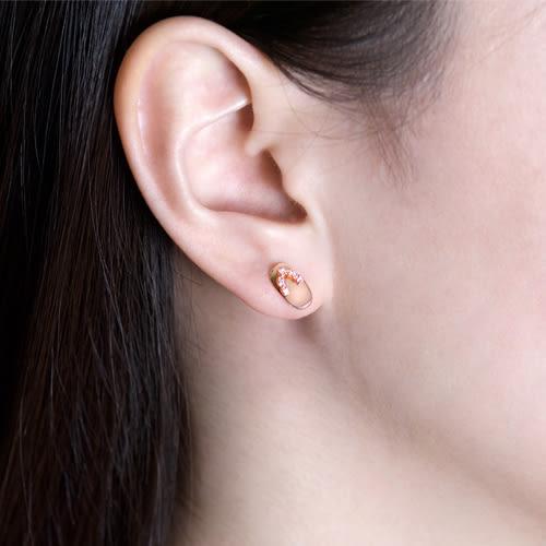 蘇菲亞SOPHIA  日式可愛木屐造型鑽石耳環 (共2色)