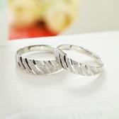 開口足銀戒子925純銀戒指對戒女福字中老年老人情侶對戒指滿天星