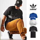 【GT】Adidas Originals 黑白藍 短袖T恤 純棉 運動 休閒 上衣 短T 愛迪達 基本款 三葉草 Logo
