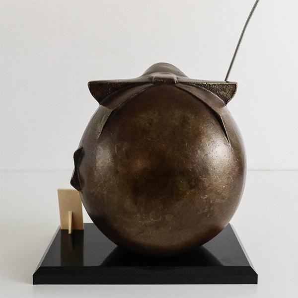 日本高岡銅器 萬福惠比須 置物 三枝惣太郎 作 風水開運擺飾 日本傳統工藝品