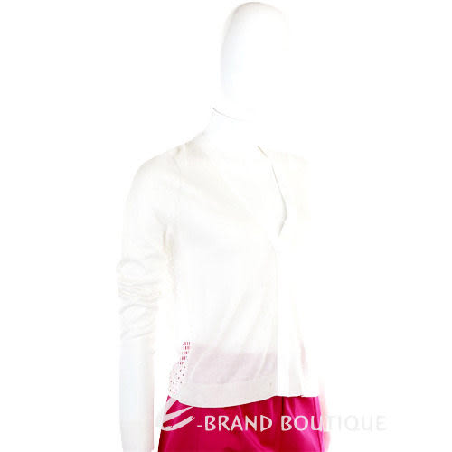 SCHUMACHER 白色拼接針織小外套 1120121-20