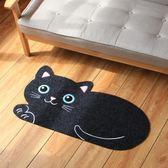 進門客廳卡通貓咪地墊蹭泥灰腳墊廚房臥室床邊寵物吸防水滑墊子韓流時裳