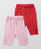 Hallmark Babies 甜心小熊長絨棉女嬰七分褲 (兩件裝) HD1-B02-10-BG-PR