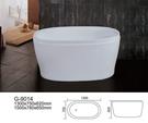 【麗室衛浴】BATHTUB WORLD  G-9014 壓克力  獨立造型缸 150*78*65CM