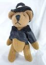 【震撼精品百貨】日本泰迪熊~鎖圈『戴帽黑』