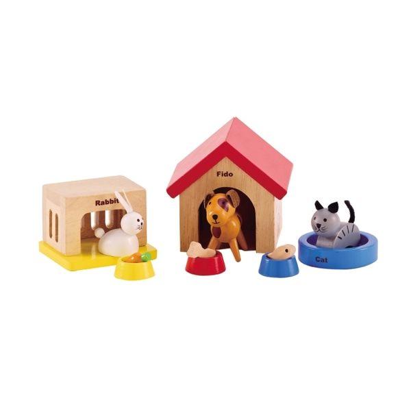德國Hape愛傑卡-居家系列可愛動物組合