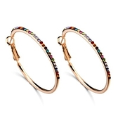 耳環 925純銀鑲鑽-簡約個性情人節生日禮物女耳針3色73gt113[時尚巴黎]