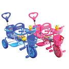 小熊幼兒 雙人三輪車(粉/藍)