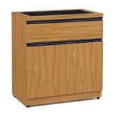 【采桔家居】萊迪歐 時尚2.5尺木紋玻璃餐櫃/收納櫃