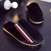 拖鞋 棉拖鞋 保暖木地板室內軟底居家鞋防滑加厚底情侶毛毛鞋