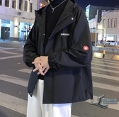 休閒夾克寬鬆韓版休閒男搭上衣【邻家小鎮】