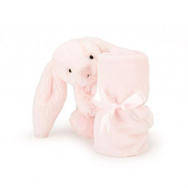 英國 JELLYCAT 嫩粉兔安撫巾 34cm Bashful Pink Bunny Soother