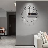 掛鐘 輕奢掛鐘靜音簡約石英鐘大鐘錶客廳創意北歐式現代時尚時鐘【幸福小屋】