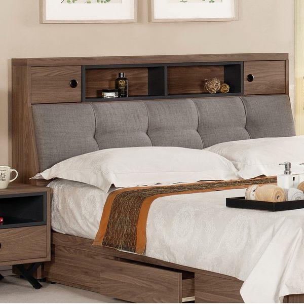 【森可家居】約克5尺被櫥頭(不含床底) 7CM039-8 雙人床頭箱 北歐工業風