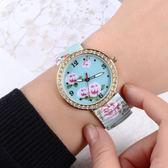 手錶女士錶防水學生時尚潮流簡約鋼帶古典風中年老人女 嬡孕哺