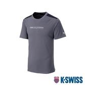 K-SWISS PF Solid Tee排汗T恤-女-灰