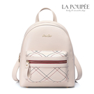 後背包 氣質菱格紋時尚後背包 2色-La Poupee樂芙比質感包飾 (現貨)