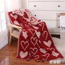 小毯子紅色純羊毛小毯子 冬季辦公室午睡沙發 單人蓋腿薄毛毯鋪床墊子 QG10348『優童屋』