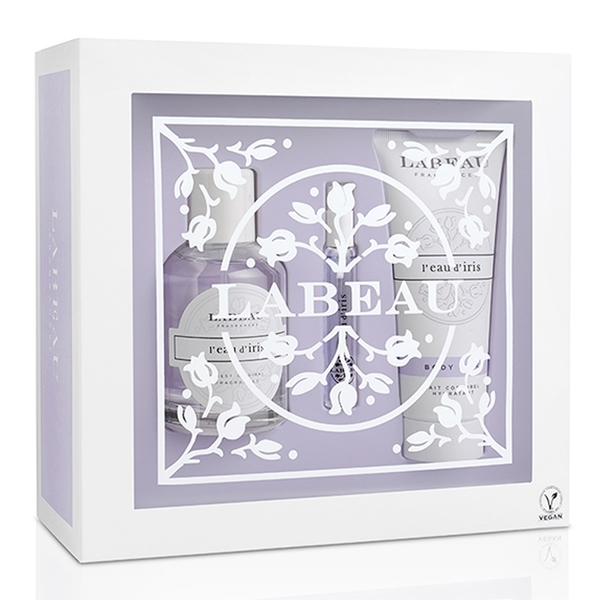LABEAU 純淨花園鳶尾花淡香水禮盒 (香水100ml+小香水7.5ml+身體乳100ml)Vivo薇朵