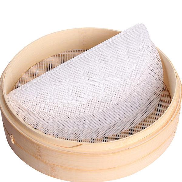 26cm 矽膠不沾蒸籠墊 重複使用 耐高溫 圓形小籠包墊布 蒸籠紙 包子紙 饅頭紙 易清洗K061