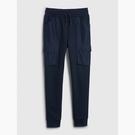 Gap男童時尚拼接設計鬆緊腰休閒褲540249-海軍藍