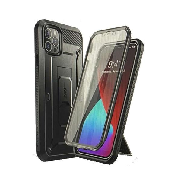 [9美國直購] SUPCASE 手機保護殼 Unicorn Beetle for iPhone 12 Pro Max(6.7吋) Built-in Screen 黑/藍綠/紅/紫 4色