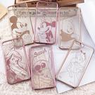 【Disney 】迪士尼iPhone 8 Plus /iPhone 7 Plus時尚質感電鍍5.5吋保護套-人物系列