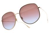 Dior太陽眼鏡 BY DIOR2 DDBYB (玫瑰金-漸層紫藍鏡片) 精緻率性多邊框 精品墨鏡 #金橘眼鏡