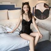 性感馬甲帶胸墊情趣內衣服激情套裝三點式透視sm騷制服用品 巴黎时尚生活