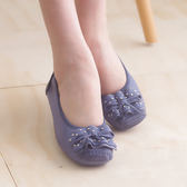 娃娃鞋 懶人鞋 休閒鞋 藍 女鞋 真皮平底鞋《Life Beauty》